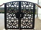 Contemporary Dual Entry Metal Gate Ornamental Iron Garden Entry Modern
