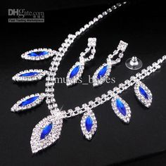 69ca6e55d33 Wholesale Bridal - Buy Bridal Jewelry Crystal Earrings Necklaces Wedding  Jewelry Set Bridal Voicedong Diamond Jewelry