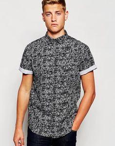 New Look Monochrome Print Shirt
