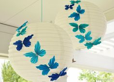 Accordion Butterfly Party Lanterns