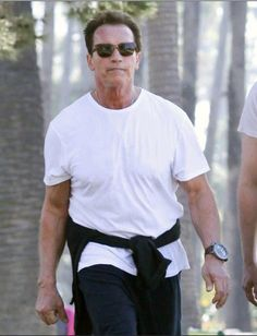 Mr. Arnold Schwarzenegger wearing his U-Boat watch from David Orgell:  U-Boat U-1942 Limited Edition, 65mm, Titanium, 400 Meters, Mechanical Movement, Made in Italy.   Limited Edition of 29 Worldwide.
