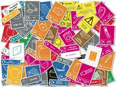 WRAP Recycle signs