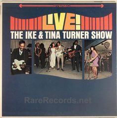 Ike & Tina Turner - Live! (Warner Brothers; 1965) Terrific live album that caught the duo at their best. The copy shown is a sealed original 1965 pressing. #records #vinyl #albums #LP Click here to learn more about this record: http://www.rarerecords.net/store/ike-tina-turner-live-sealed-stereo-1965-lp/