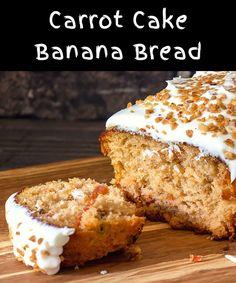 Carrot Banana Cake, Homemade Carrot Cake, Homemade Breads, Banana Walnut Bread, Banana Bread Recipes, Healthier Desserts, Sugar Rush, Overnight Oats, Sweet Bread