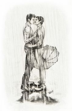 pencilpushingenthusiast:  lil-lis:  pencilpushingenthusiast:  For the lovely Miss Daxie, who requested a little Klaine in the rain :)  Here ...