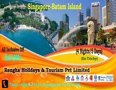 Amazing Tour of Singapore with Batam Island for 4 Days Package. Batam, All Inclusive, Singapore, Tourism, Island, Night, Day, Amazing, Block Island