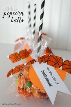 skittles popcorn ball recipe at GingerSnapCrafts.com #skittlestourney #cbias #ad