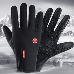 😍These Thermal Gloves are Windproof, Waterproof and Touch Compatible! 😍 🧤Made with high-density water-resistant conductive material and Anti-slip leather!