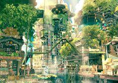 Japan fantasy city