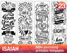 ECCLESITES - 4 Bible journaling printable templates, instant download illustrated christian faith bookmarks, black and white prayer journal bible verse traceable stencils, bible stickers.  ♥ Ecclasiates 3:1 There is a time for everything. ♥ Ecclasiates 5:4 When you make a vow to God, do not delay to fulfill it. ♥ Ecclasiates 8:15 Eat and drink and be glad. ♥ Ecclasiates 11:5 You cannot understand the work of God.  This COLOR YOUR OWN Bookmark/Template Collection is perfect to: • Color and…