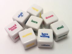Get rolling with this Inspiration Dice set! #LiteraryGifts  WritersRelief.com