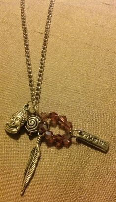 Buddha 5 charm necklace.  By Renewed Root.