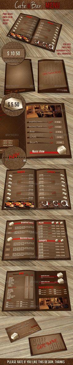 Burger House Menu Template PSD #foodmenu #design Best Food Menu - bar menu template