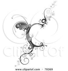 Vine Alphabet Letter C Posters, Art Prints