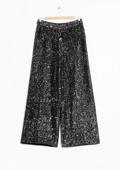 & Other Stories image 1 of Sequined Trousers in Black