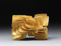 Structures of a Square - Half Spiral Brooch - Jacqueline Ryan