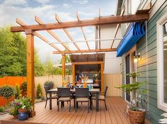 another example of multi-level pergola--could accommodate curtains ... - Patio Canopy Ideas
