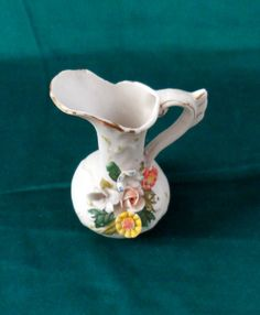 1950s TINY CAPODIMONTE EWER/ Made in Italy / by BYGONERA on Etsy, $30.00