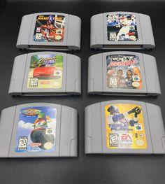 b730609b49 Lot of 6 Original Rare Nintendo 64 Games Used *NBA *CRUISIN' USA *WCW+  *AS-IS*