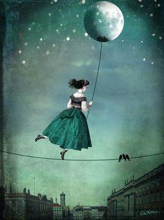 *・゚☆.。.☽ Moonwalk Art by Catrin Arno