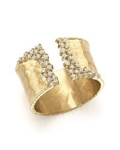 Diamond Cuff Ring in 14K Yellow Gold, 0.30 ct. t.w.