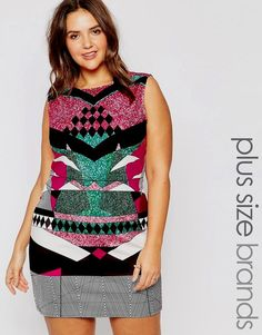 Asos collection Asos Midi Bodycon Dress in Aztec Print in Blue | Lyst