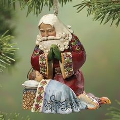 Jim Shore Santa and Baby Ornament