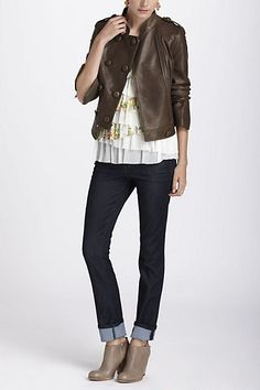 Duple Leather Jacket - Anthropologie.com