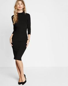 black open back ribbed sheath dress