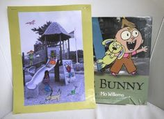 Knuffle Bunny, by Mo Willems is the inspiration for this kid friendly craft.
