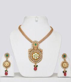 Gold Plated Kundan Polki Jewellery