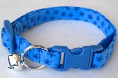 Blue Starflower Cat Collar - Customizable
