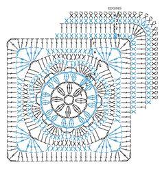 African flower crochet square.  <3                                                                                                                                                                                 Plus