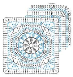 African flower crochet square. <3