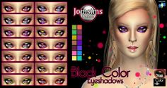 JomsimsCreations : Black Color Eyeshadows.
