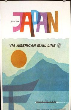VIA AMERICAN MAIL LINE;JAPAN