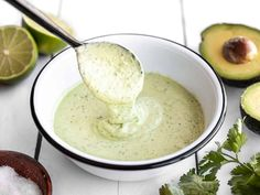 This tangy and creamy avocado dressing is great for both salads and for dipping your favorite vegetables. Mixes up in minutes! BudgetBytes.com Vinaigrette, Asian Ginger Dressing, Creamy Avocado Dressing, Taco Salad Recipes, Best Blenders, Bariatric Recipes, Fresh Vegetables, Veggies, Wrap Sandwiches