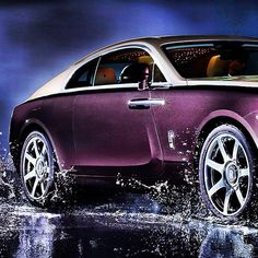Rolls Royce Wraith purple cars, purple trucks, purple SUV, purple classic cars, purple muscle cars Sexy Cars, Hot Cars, Dodge, Ferrari, Rolls Royce Wraith, Muscle, Best Classic Cars, Hot Rides, Bugatti