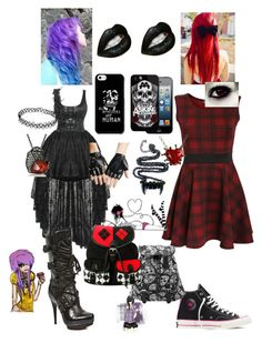 """punk party and punk causal"" by loveblue12 ❤ liked on Polyvore"