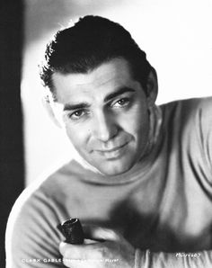 Clark Gable by George Hurrell for MGM, 1931 - he took great portraits of Hollywood's leading ment too.