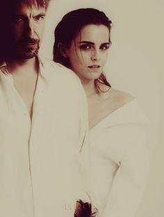 Alan Rickman  and Emma Watson by xantishax277