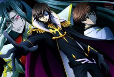 Shin Huyga, Julius Kingsley and Suzaku Kururugi - Code Geass Akito the Exiled