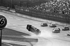 Rusty Wallace catches some air as he takes the checkered flag to finish sixth in the Winston 500 at ... - ISC Archives via Getty Images