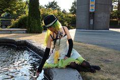 Gumi vocaloid cosplayer.