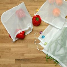 This set of 5 reusable produce bags has everything you need to rein in those awesome artichokes, tangy tangerines, perfect peaches, and more. You'll find a ton of uses for them outside the market as w