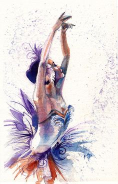 Original Watercolor Christmas Ballerina from by SimplyArtByKristin, $65.00