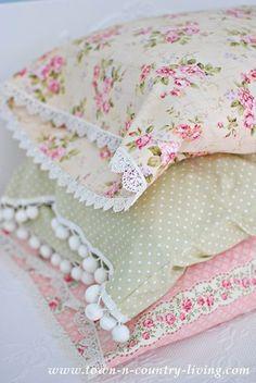 Pretty Shabby pillows