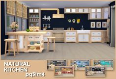 Sims 4 CC's - The Best: NATURAL KITCHEN by PQSIM4