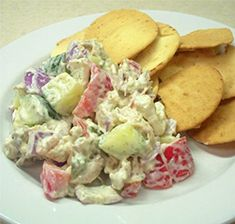 Tzatziki Chicken Salad / Tzatziki is a traditional Greek dish made from yogurt, cucumber, lemon, and often dill.