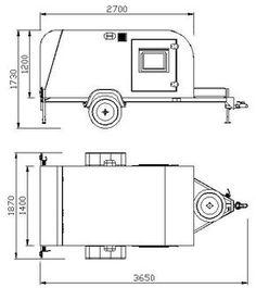 Mini trailer Traveller, Little Traveller, Cargo Traveller. Calços de roda e…